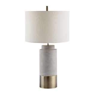 Scully Cylinder Concrete Lamp For Sale