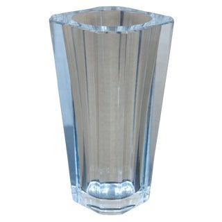 "Baccarat France Diane Pattern Tapered Square Cut Glass Flower Vase 7 3/4"" For Sale"