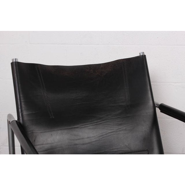 Pair of Leather Lounge Chairs by Martin Visser For Sale - Image 10 of 10