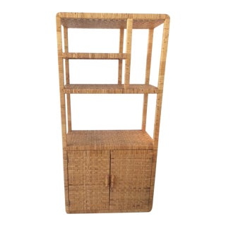 1980s Boho Chic Bielecky Brothers Etagere With Doors For Sale
