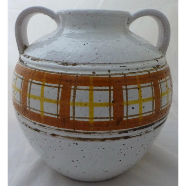 Mid-Century Modern Italian Art Pottery Vase For Sale - Image 11 of 11
