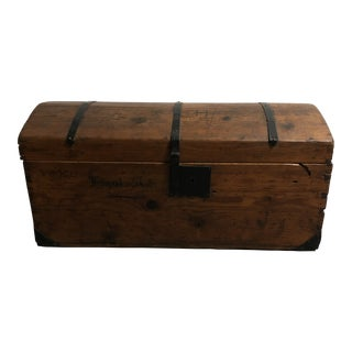 19th Century Hungarian Steamer Trunk For Sale