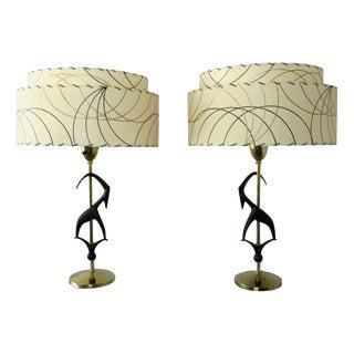 Rembrandt Midcentury Gazelle Table Lamps - a Pair For Sale