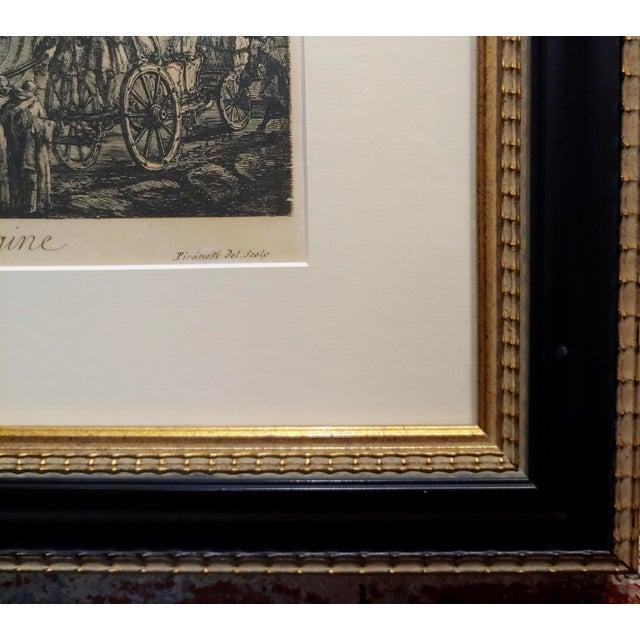Etching Giovanni Battista Piranesi -Veduta Della Fontana DI Trevi -18th Century Etching For Sale - Image 7 of 9