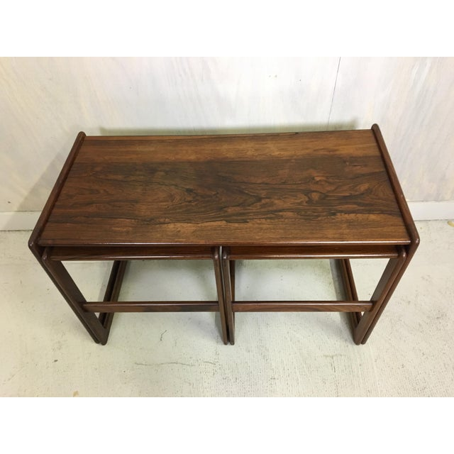 1960s Hovemand Olsen Rosewood Nesting Tables For Sale - Image 5 of 7