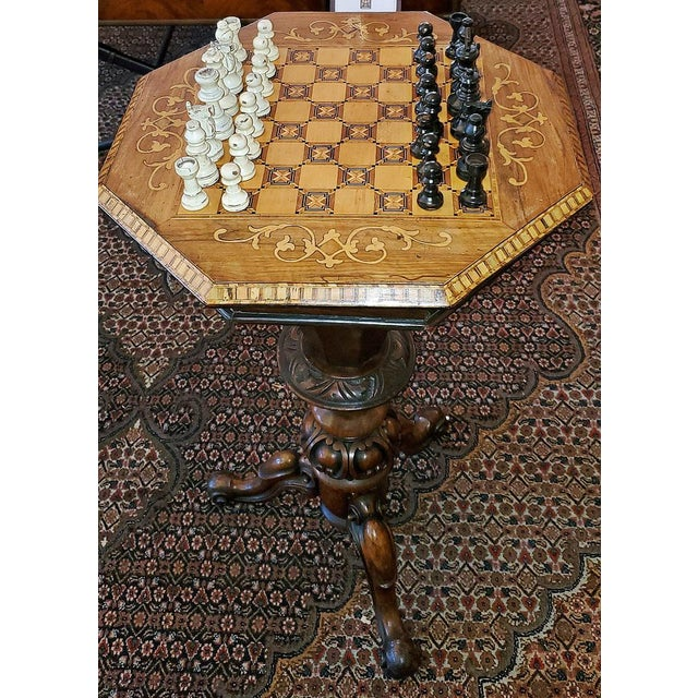 19th Century British Games Top Trumpet Shaped Table For Sale - Image 10 of 12