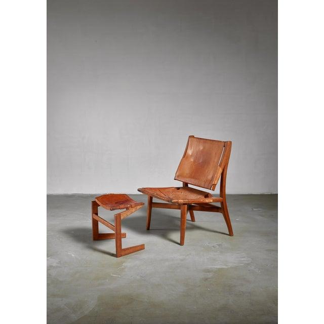 Studio Craft Lounge Chair With Ottoman, Usa For Sale - Image 6 of 6