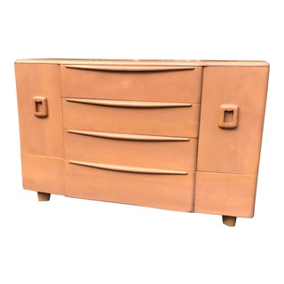 1950s Heywood Wakefield Buffet Credenza in Champagne For Sale