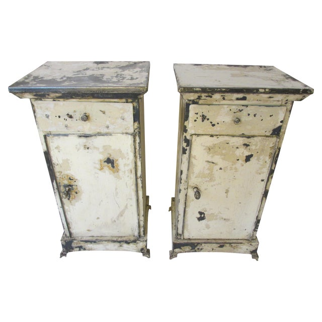 Antique French Shabby Chic Nightstands - A Pair - Image 1 of 10