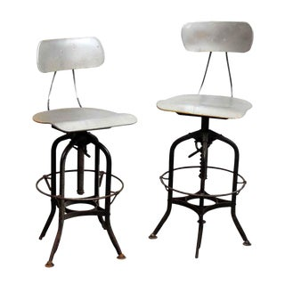 Metal Reproduction Stools -- A Pair For Sale