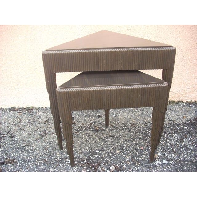 Triangular Nesting Tables - A Pair - Image 2 of 5