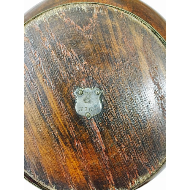 Antique English Oak Mont. Bowl - Image 7 of 8