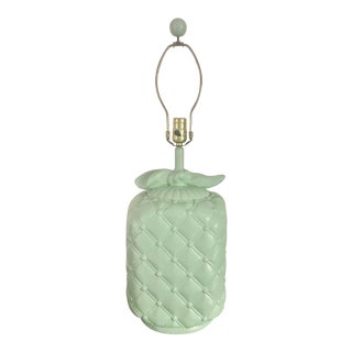 Vintage 1960s Mint Green Lamp For Sale