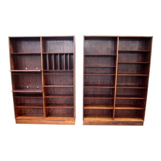 1960s Danish Modern Poul Hundevad Rare Rosewood Bookcases - a Pair For Sale