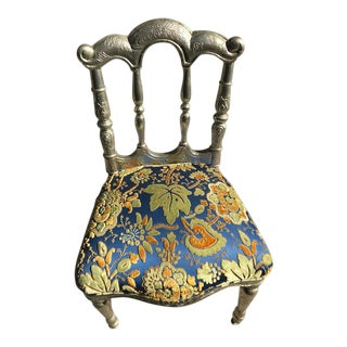 Moroccan Silver-Leaf Chair For Sale