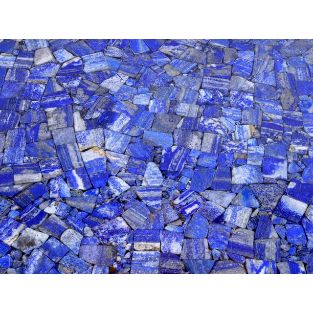 1970s Coffee Table With Lapis Lazuli, by Etienne Allemeersch, Circa 1975 For Sale - Image 5 of 7