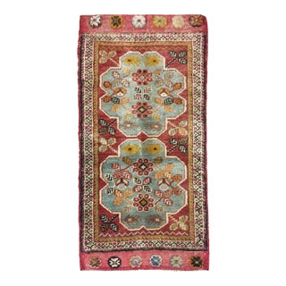 Turkish Oushak Rug 1'9 x 3'6 For Sale