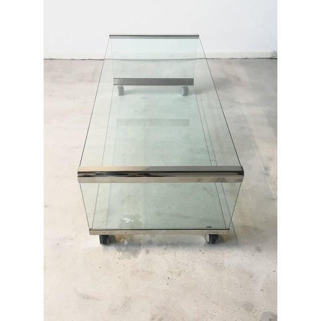 Chrome and Glass Coffee Table, by Pierangelo Galotti for Galotti & Radice, 1975 - Image 6 of 7
