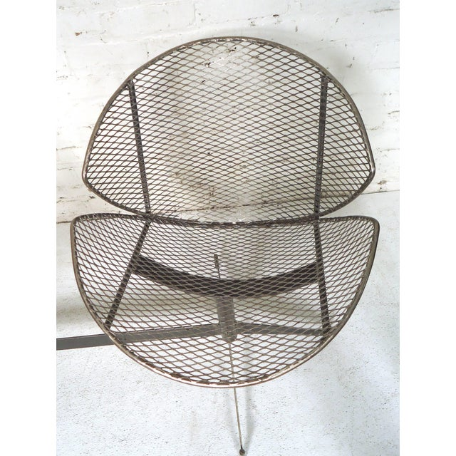 1960s Vintage Industrial Two-Seat Bench For Sale - Image 5 of 9