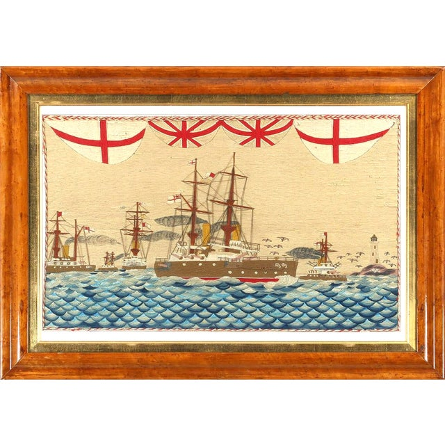 Large British Sailor's Woolwork of Fleet, Circa 1890 For Sale In Philadelphia - Image 6 of 6