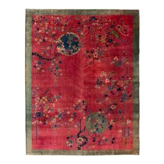 "Apadana-Antique Chinese Rug, 9'0"" X 11'6"""