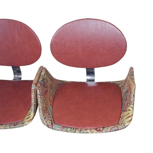 Textile Faultless-Doerner Steel Base Tandem Seating For Sale - Image 7 of 11