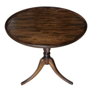 Wooden Antique Pie Crust Table For Sale