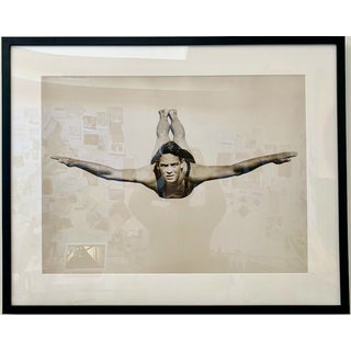 1990s Framed Diver Photographic Print Preview