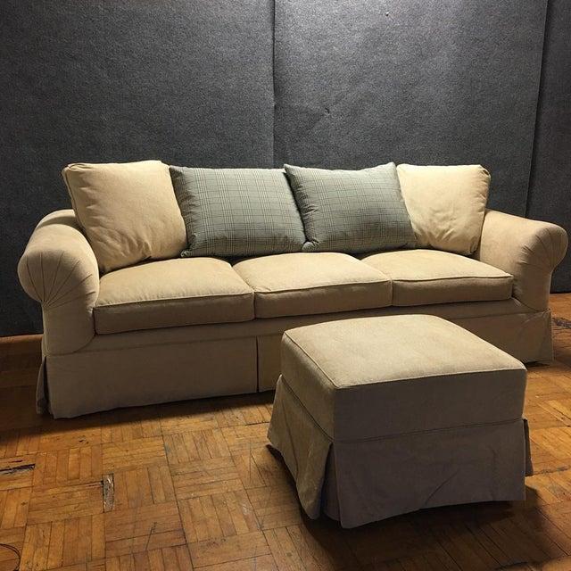Kreiss Tan Giverny Sofa & Ottoman - Image 2 of 10
