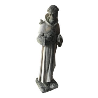 Cast Stone Statue of St. Francis of Assisi For Sale