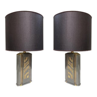 A Pair of Table Lamps Signed by Jansen, Paris 1960