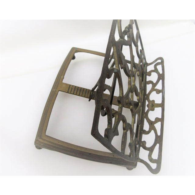 Adjustable Brass Easel Stand - Image 8 of 9