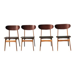 Set of 4 Mid-Century Modern Danish Dining Chairs For Sale