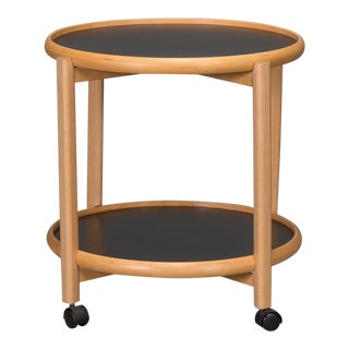 Two-Tier Reversible Top Beech & Laminate Side Table For Sale