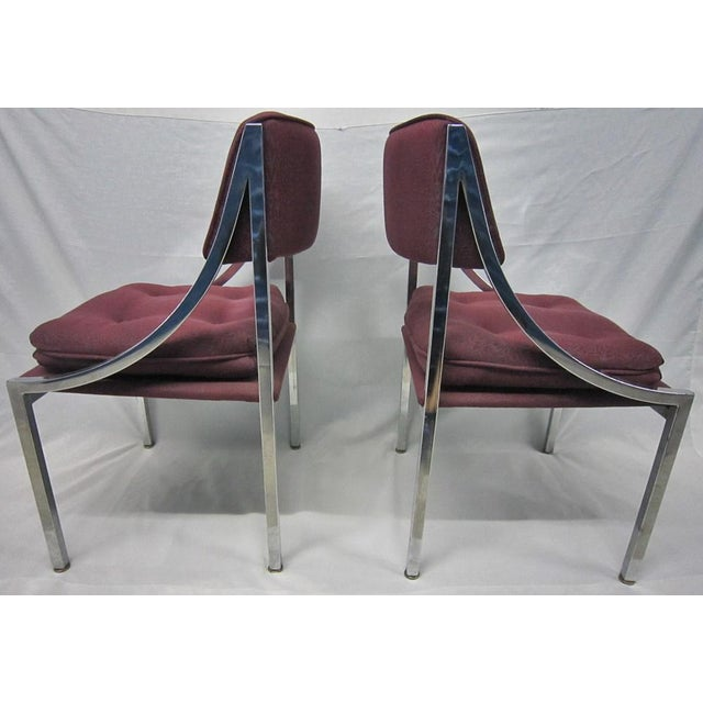 Milo Baughman Dining Chairs - A Pair For Sale - Image 5 of 7
