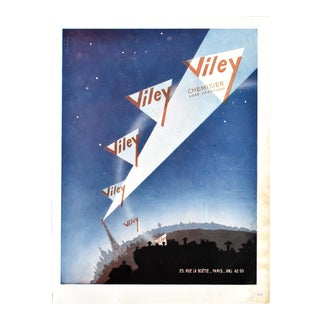 Vintage French Paris Eiffel Tower Advertisement Page For Sale