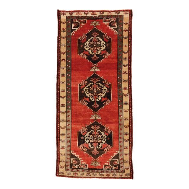 "Vintage Turkish Sivas Wool Runner Rug - 5'5"" X 11""11"" For Sale"