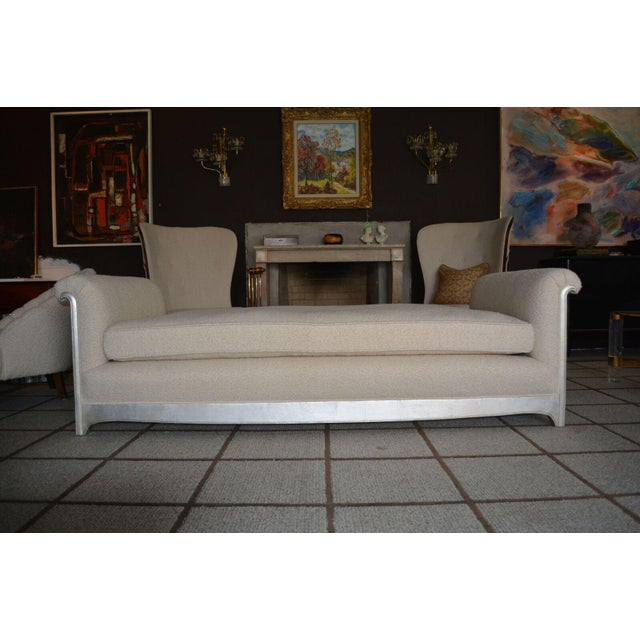 Silver Art Deco / Moderne Silver Leafed Daybed For Sale - Image 8 of 9