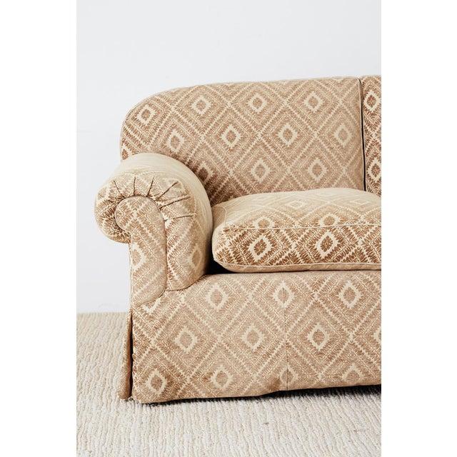 Jonas New York English Style Three-Seat Sofa For Sale - Image 4 of 13