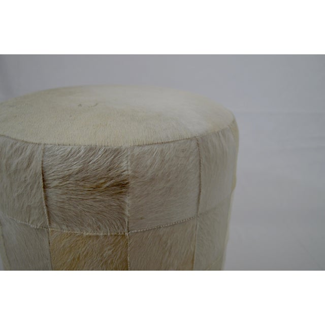 Early 21st Century Arteriors Home Faux Fur Patchwork Ottoman For Sale - Image 5 of 6