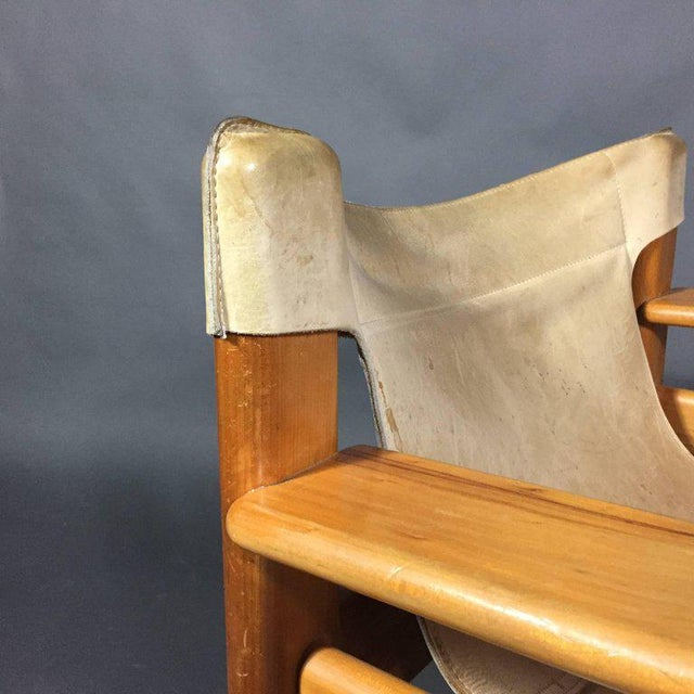 "Animal Skin Karin Mobring ""Natura"" Leather Armchair, Sweden, 1970s For Sale - Image 7 of 10"