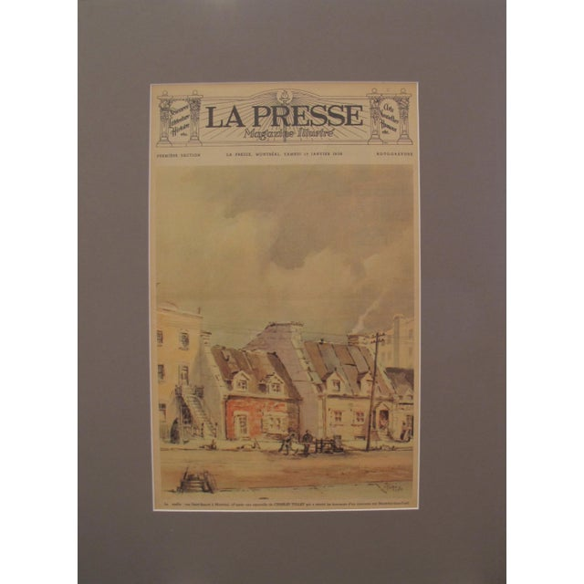 Vintage Art Deco Montreal Church Poster, C.1930 For Sale - Image 4 of 5