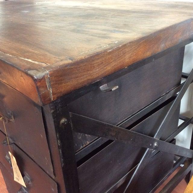 Metal and Wood Industrial Desk - Image 5 of 7