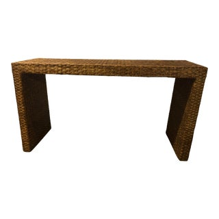 20th Century Seagrass Console Table For Sale