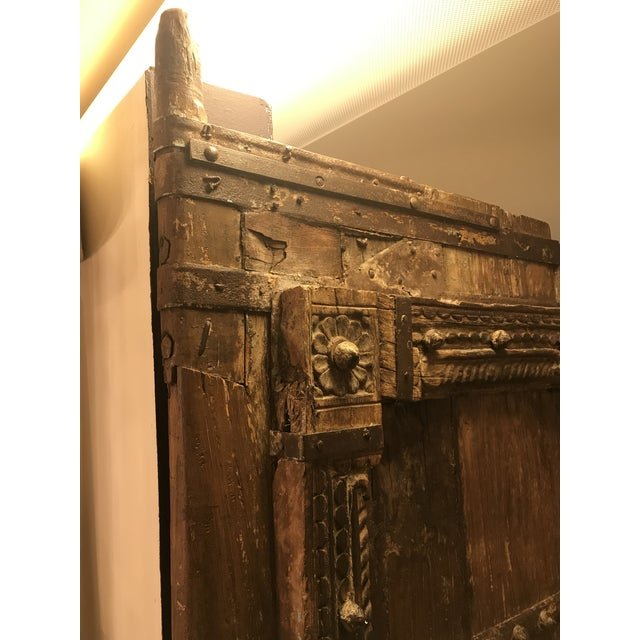 Asian Original Antique Salvaged Hand-Made Indian Doors For Sale - Image 3 of 12