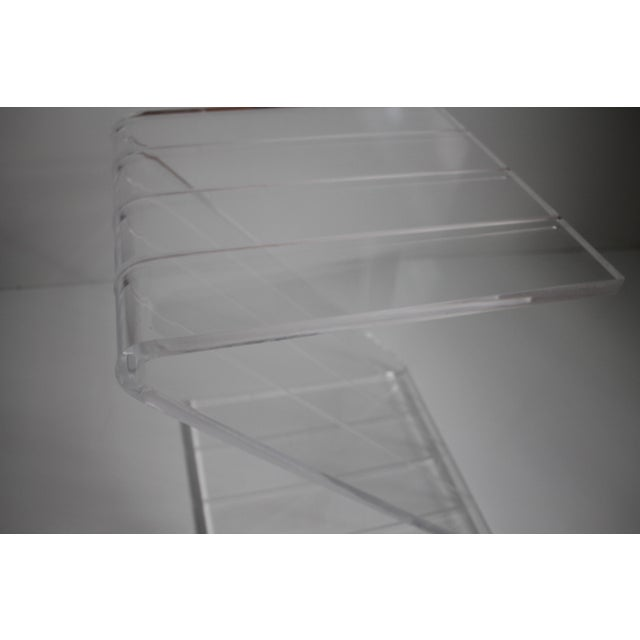 Vintage Lucite Z-Shaped Side Table For Sale In Miami - Image 6 of 7