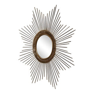 Early 20th Century French Sunburst Mirror With Antique Bronze Finish For Sale