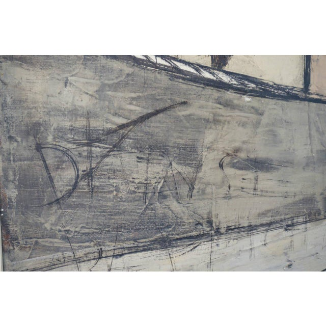 Mid-Century Oil Painting by French Artist Charles Levier For Sale - Image 9 of 11