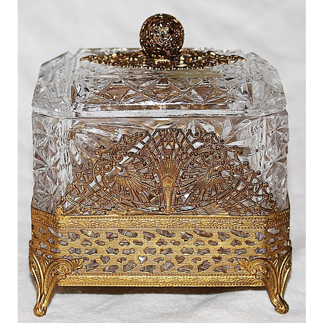 Hollywood Regency Glass Vanity Box - Image 3 of 7