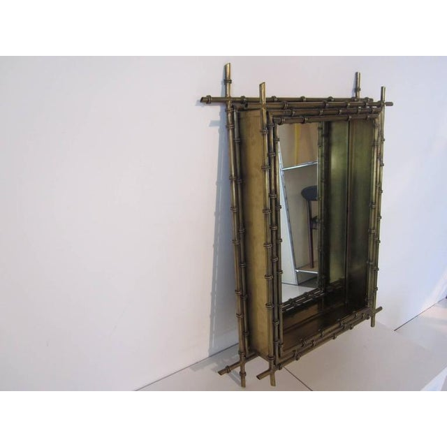 Asian Curtis Jere Faux Gold Gilt Wall Mirror For Sale - Image 3 of 5